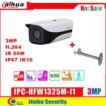 Dahua  IP Camera 3MP IPC HFW1325M I1 H.264 IP67 ONVIF IR30M Surveillance Network bullet Camera 3DNR Day/Night
