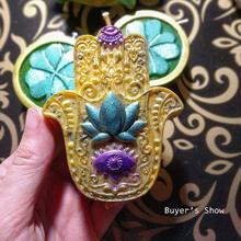 HAMSA-Molde de silicona para jabón con forma de flor de loto en La Palma, moldes de mano para jabón DIY, para fabricación de jabón de la mano de la mascota Fátima, vela de resina