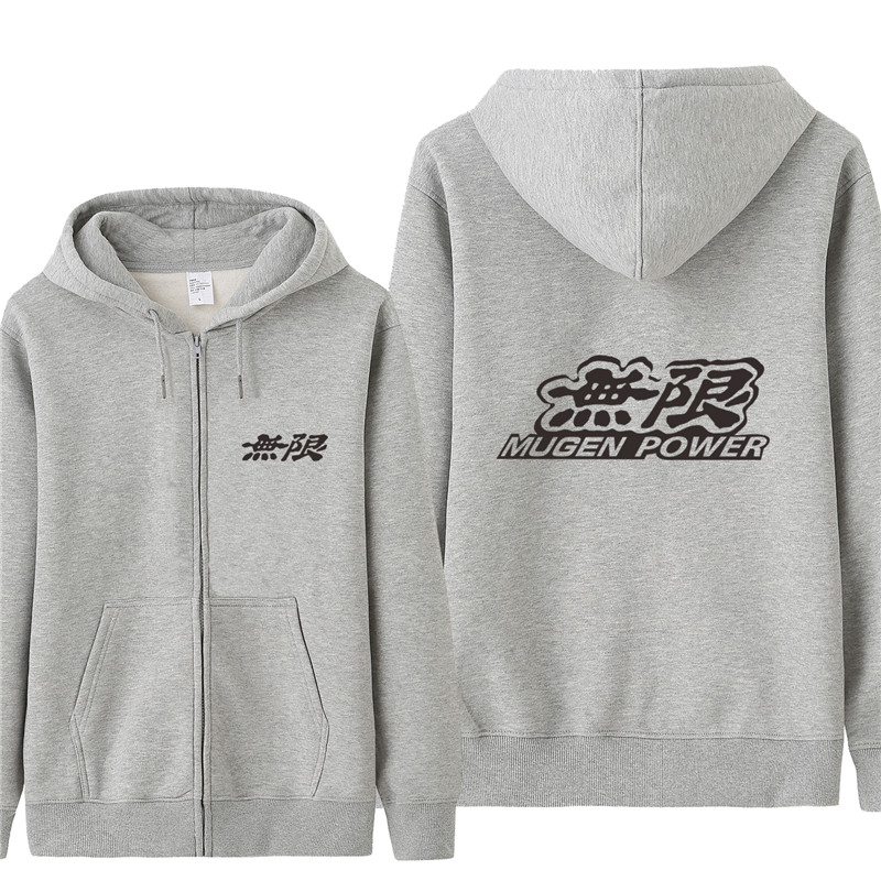 Mugen Power Logo Sweatshirt Hoodies Men Autumn Coat Pullover Fleece Jacket Unisex Man Mugen Sweatshirts HS-099