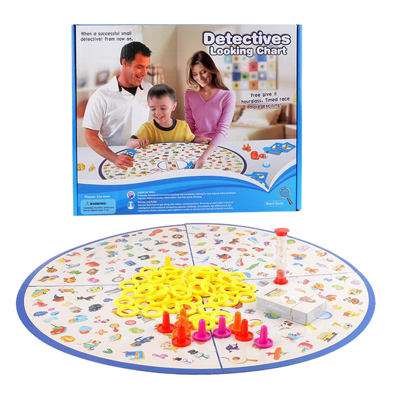 Detectives Looking Chart Kids Board Games 2-4 Players Children Learning Board Games Seeking Game