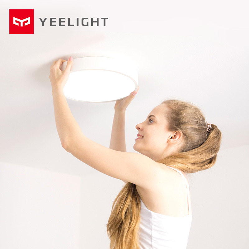 2019 nova original xiao mi yeelight inteligente luz de teto lâmpada controle remoto mi app wifi bluetooth inteligente led cor ip60 dustproof - 2