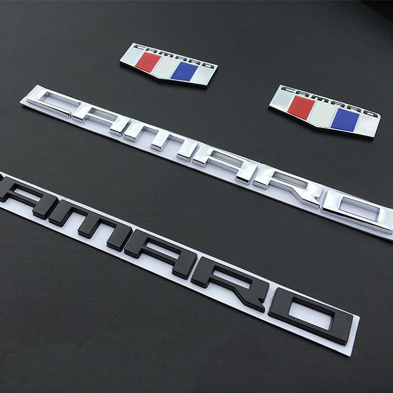 <font><b>Car</b></font> Side <font><b>Wing</b></font> Fender Emblem CAMARO Letters Badge Body Sticker Auto Door Rear Trunk Decal For Chevrolet Chevy Camaro SS ZL1 Z28 image
