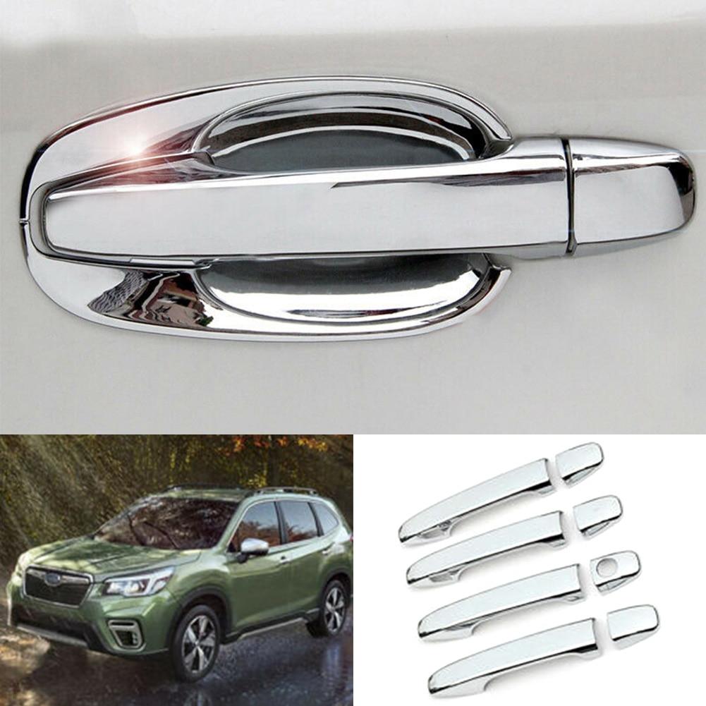 Poignée de porte extérieure chromée pour Subaru forester, garniture décorative, pour conducteur gauche, 8 pièces, 2013, 2014, 2015, 2016, 2017, 2018
