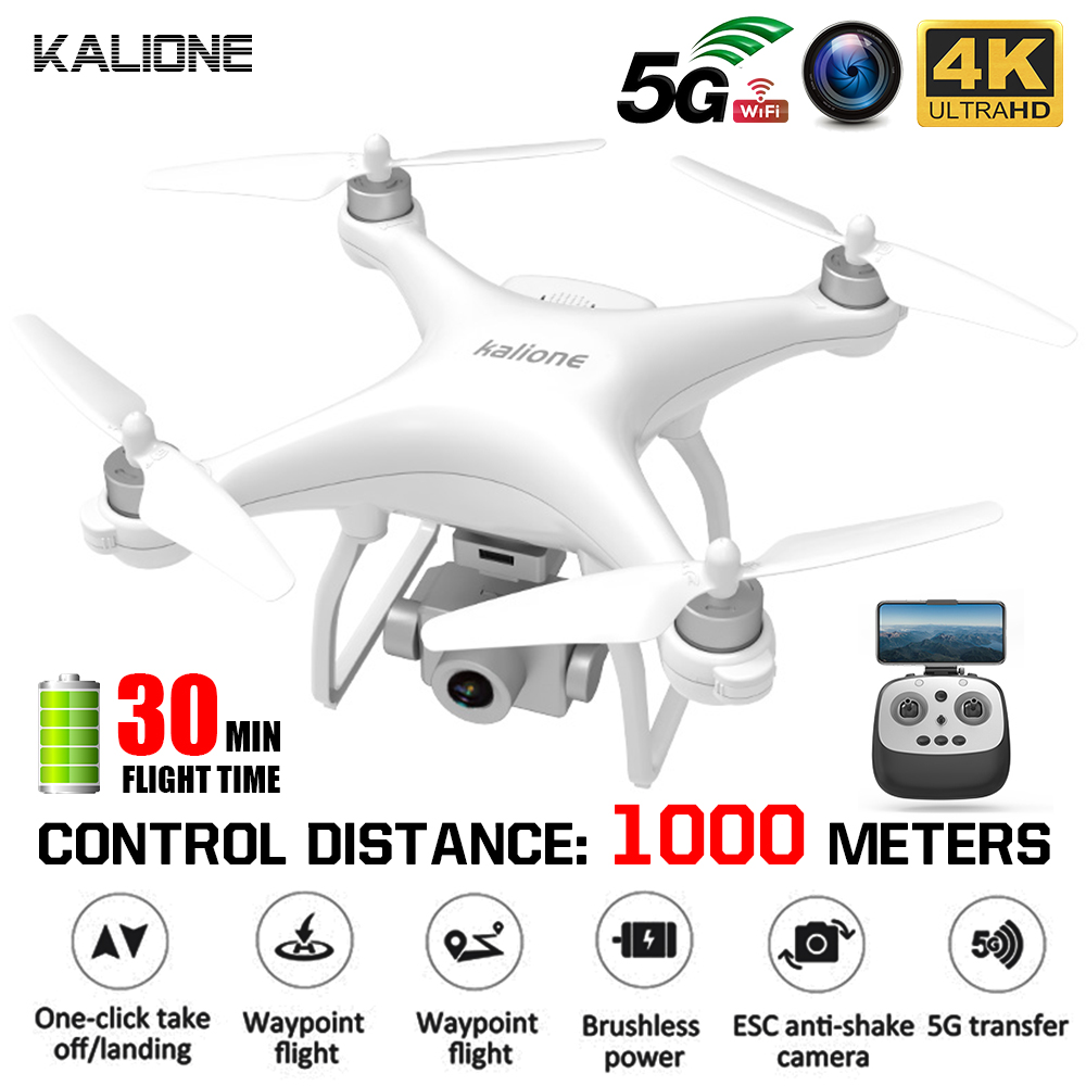 KALIONE K777 <font><b>Drone</b></font> GPS WiFi 4K HD ZOOM Camera RC Quadcopter <font><b>Brushless</b></font> <font><b>Drones</b></font> Profissional Gimbal Helicopter 30Mins flight VS X35 image