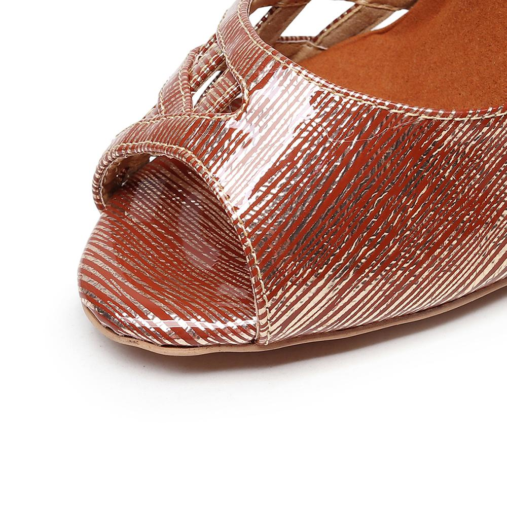 Купить с кэшбэком Entertaining PU jazz ballroom Latin dance shoes, high-heeled open-toe high-heeled shoes specially designed for dancing women