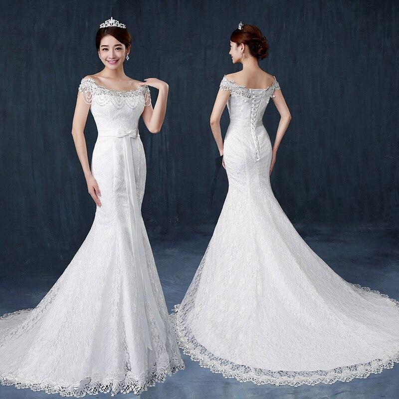 2019 New African Full Pearls Beading Mermaid Wedding Dress Ruffles Bridal Gowns Guna Bainise