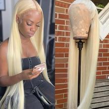 Парик Abijale 613 блонд, парик из человеческих волос на сетке спереди, бразильский парик без повреждений, прямые волосы 13x4x1, парики на сетке спере...
