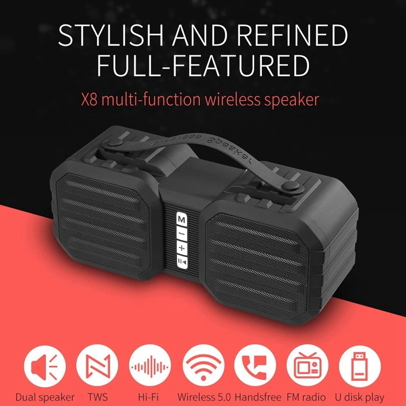 Best Offer 4a5f X8 Wireless Bluetooth Speaker Portable Hifi Multi Function Soundbox Tws Stereo Sound Support Tf U Disk Aux In Phone Bracket Fm R Pu Diggits Co