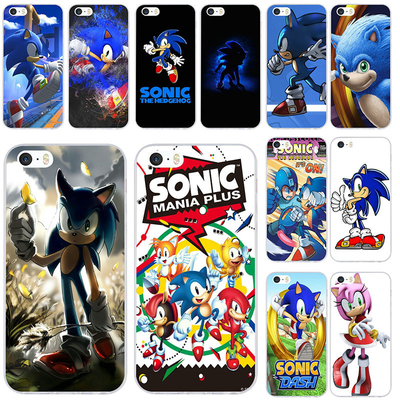 Sonic Forces Soft TPU Silicone Mobile Phone Case Cover for iPhone 8 7 6 6S Plus X XR XS Max 5 5S SE 5C 4 4S Coque Shell Bags