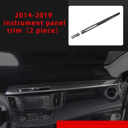 For Toyota RAV4 2014 2018 Car interior decorative cover Gear shifter sticker carbon fiber molding trim