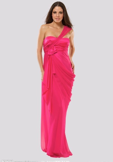 Free Shipping Fashion Robe De Soiree 2014 New Style Hot Vestido De Festa Longo One Shoulder Party Gown Custom Bridesmaid Dresses