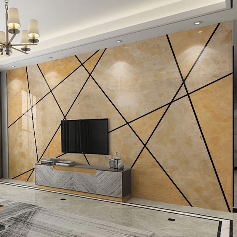 Custom Mural Wall Paper 3D Geometric Marble Pattern Living Room TV Background Wall Murals Waterproof Canvas Painting Wallpaper