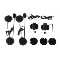 Metal clip+V6 Pro 6 Rider Motorcycle Helmet BT Interphone 1200 Wireless Bluetooth Interphone Headset Stereo music