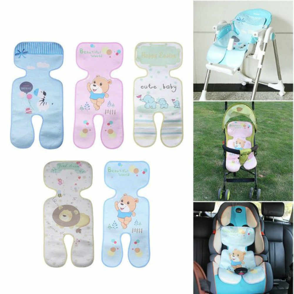 Baby Cart Diaper Pad Cover Stroller Ice Silk Mat Car Seat Cushion Newborn Infant Summer Breathable Cool Prams Pushchairs MatZ132
