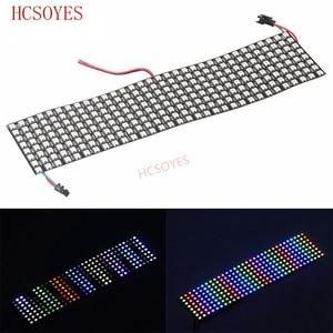 Image 1 - 16x16 8x32 8x8 led pikseli WS2812B cyfrowy elastyczny Panel ledowy indywidualnie adresowalnych pełny kolor marzeń DC5V