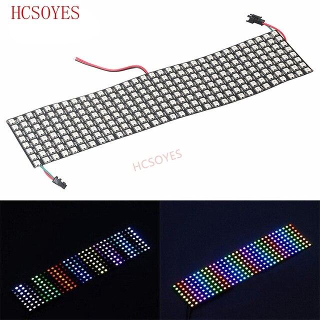 16x16 8x32 8x8 led pikseli WS2812B cyfrowy elastyczny Panel ledowy indywidualnie adresowalnych pełny kolor marzeń DC5V
