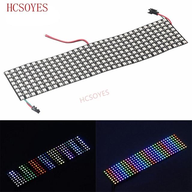 Цифровая Гибкая Светодиодная панель WS2812B, индивидуальное управление, полный цвет мечты, 16x16, 8x32, 8x8 пикселей, 5 в постоянного тока