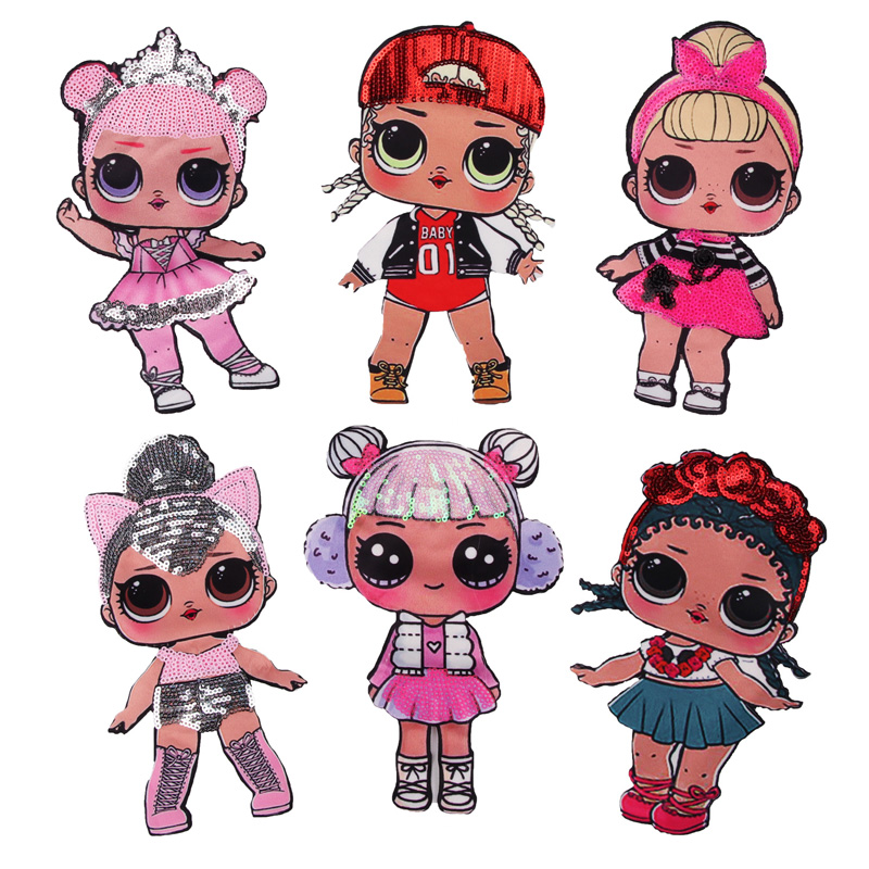 6 Pcs Wholesale Fashion DIY Applique Water Soluble Embroidery Costume Decoration Children Clothes Colorful Decals Accessories