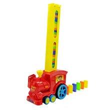 Кирпичный подарок, звуковой светильник, красочная игрушка, модель поезда, Электронная детская кладка, ралли, блоки, Обучающий набор домино для мальчиков и девочек, ABS