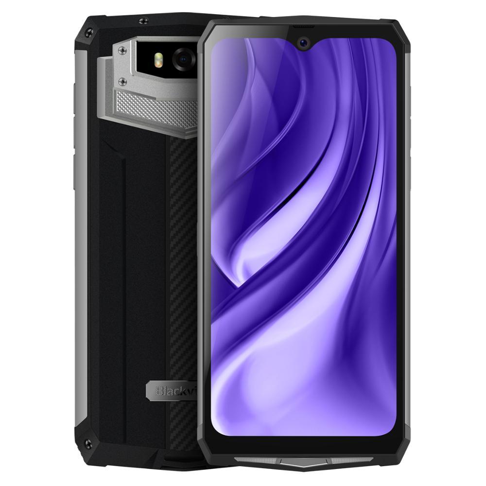 Image 2 - البلاكفيو BV9100 6.3 بوصة الهاتف المحمول IP68 مقاوم للماء وعرة الهاتف المحمول 4GB 64GB ثماني النواة أندرويد 9.0 الهاتف الذكي 12000mAH NFCالهواتف المحمولة   -