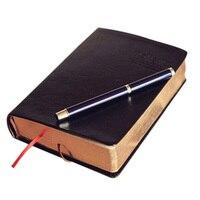 Винтажный блокнот из плотной бумаги, блокнот из искусственной кожи + бумаги, Библейский дневник, школа планирования, канцелярские принадлеж...
