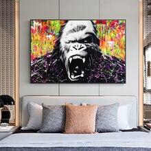 Абстрактная обезьяна граффити художественные картины на стену