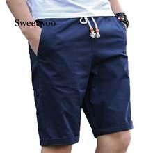 Мужские хлопковые шорты темно синие повседневные пляжные размеры