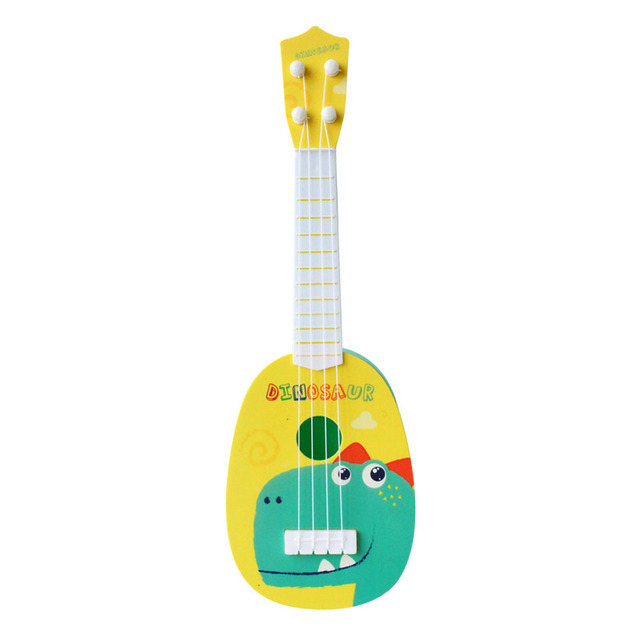 1pc Kids Funny Ukulele Musical Instruments Kids Guitar Montessori Toys for Children School Play Games Education Boys Girls 5