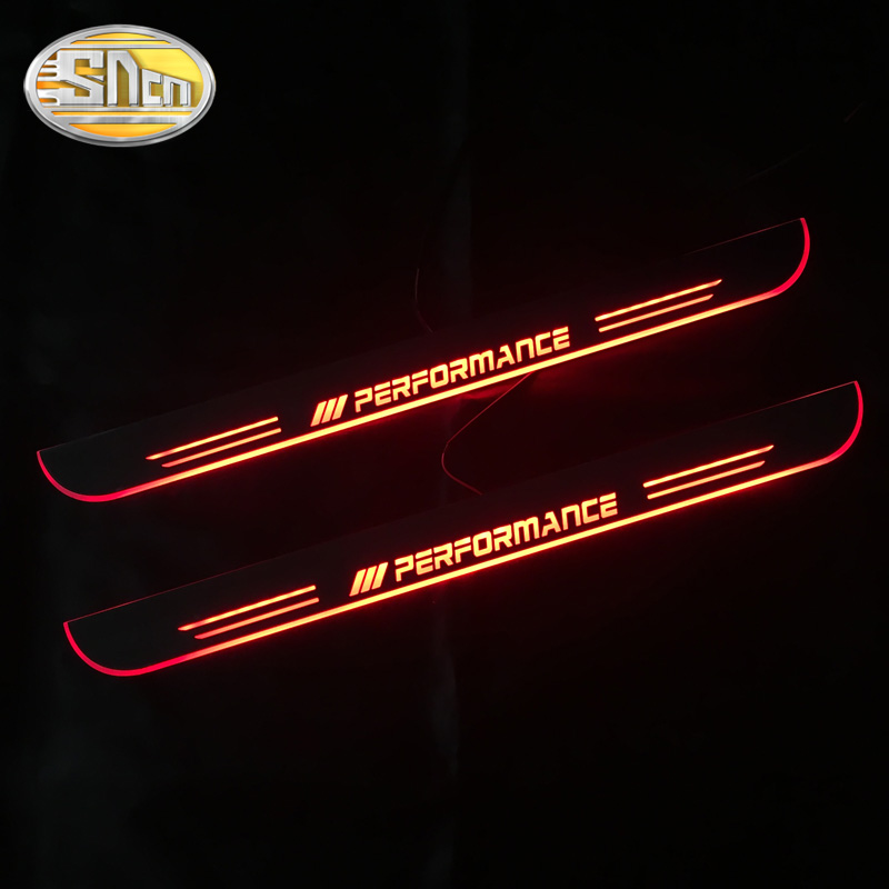 Image 3 - SNCN 4PCS Acrylic Moving LED Welcome Pedal Car Scuff Plate Pedal Door Sill Pathway Light For BMW X5 E70 F15 2007   2016 2017-in Car Stickers from Automobiles & Motorcycles