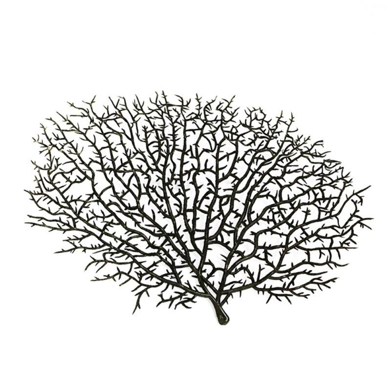 Искусственный Коралл филиал моделирования поддельные древовидные ветви сухое декративное растение белый завод дома Свадебные украшения вечерние поставки - Цвет: B2