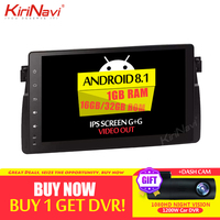 KiriNavi Android 8.1 Car Radio DVD Navigation For BMW E46 M3 318i 320i 325i Android Car Radio Gps Multimedia 1998 2006 WIFI 4g