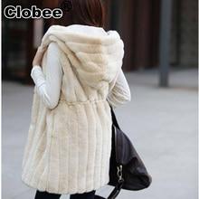 6XL женский жилет из искусственного меха зимнее теплое меховое пальто Верхняя одежда kamizelka futerko теплая Женская куртка длинный меховой жилет топы DX343
