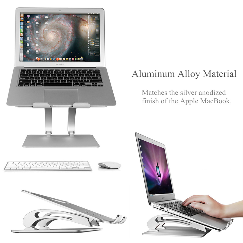 Nouveau grand support d'ordinateur portable réglable avec ventilateur de refroidissement USB Hub, support de refroidissement pour ordinateur portable pour MacBook Air/Pro 11-17 pouces