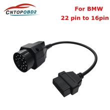 OBD2 kabel adapter 20 pin do 16 pinowe złącze żeńskie BMW e36 e39 X5 Z3 dla BMW 20pin OBD II kabel diagnostyczny tanie tanio elmscan 0 1kg Plastic Kable diagnostyczne samochodu i złącza Newest 30inch 20inch OBD Adapter Cable 10inch