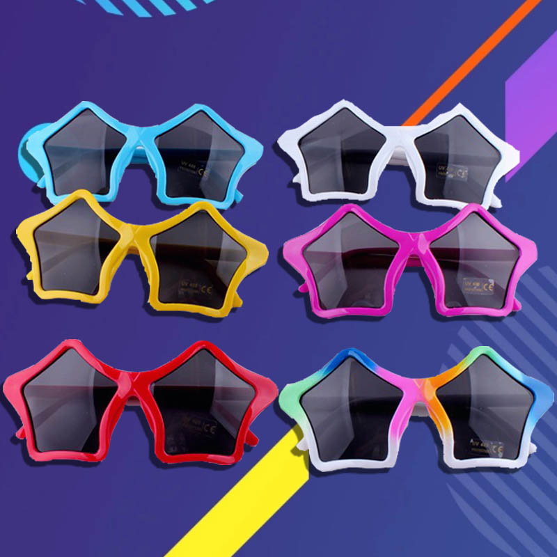 Zyomy Novelty Star Shape Frame Sunglasses UV400 Sport Goggle Girls Boys Glasses Party Prop Fashion Retro Eyewear Oculos De Sol