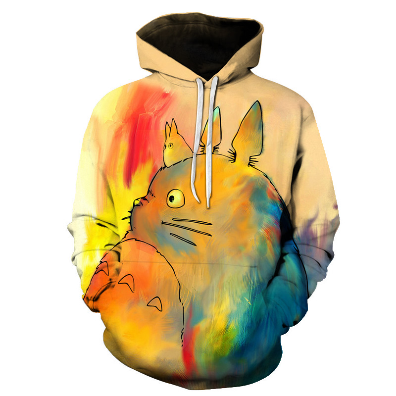 Women Men Anime My Neighbor Totoro Hoodie Cosplay Costume Warm Sweatshirts Unisex Cartoon  Pullover Casual Brand Jumper S-6XL