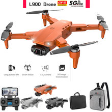 L900 Pro Drones 4K HD Dual Camera GPS 5G WIFI FPV Quadcopter Brushless Motor Rc Distance 1.2km Transmission Helicopter Toys