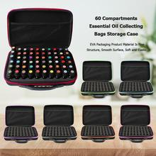60 Bottles Essential Oil Case 15ml Essential Oil Collecting Bags Travel Portable Carrying Cases Nail Polish Storage Bag