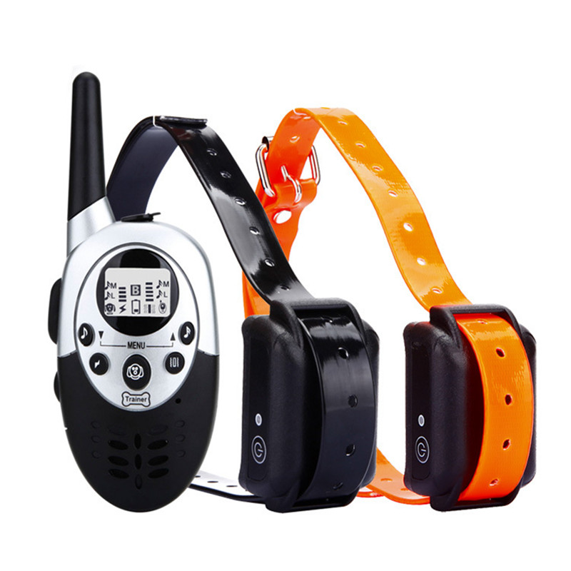 Remote Dog Training Collar Electric Rechargeable Shock Collar Trainer Anti-bark Control Training Equipment For Dogs Pet Supplies