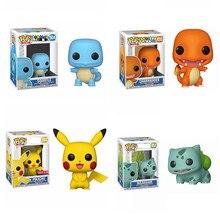 Funko POP-figuras de acción de Pikachu, Charmander, SQUIRTLE, Juguete de 10cm, modelo de vinilo, juguetes para niños, regalos de fiesta