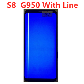 100% Original  AMOLED  For Samsung Galaxy S8 G950A G950U G950F LCD Display Touch Screen Digitizer Assembly With Line смартфон samsung galaxy s8 sm g950f 64gb жёлтый топаз