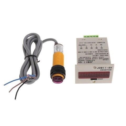 Dígitos Display Digital Contador Ajustável Fotoelétrico Sensor Interruptor Testador Ferramenta 6 Led 1-999999