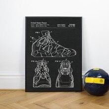 Sapatos de tênis quente patente vintage posters e impressões sapatos populares presente idéia arte imagem da lona pintura decoração da parede