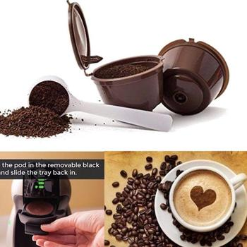 Reusable Coffee Capsule Filter Cup for Nescafe Dolce Gusto Refillable Caps Spoon Brush Filter Baskets Pod Soft Taste Sweet