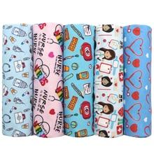 50*140cm 5designs/set Nurse Printed 100% Cotton Fabric Sewing Garment Clothes Quilting Patchwork Fabric Tilda Doll,1Yc12650