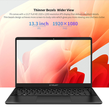 """Newest Teclast F6 Laptop 13.3"""" FHD IPS 1920x1080 Intel Apollo Lake Windows 10 Laptops 8GB LPDDR4 128GB SSD Notebook 1.28KG 4"""