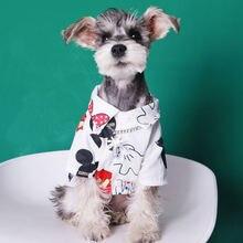 Летняя одежда для собак рубашка с рисунком мыши подходит чихуахуа