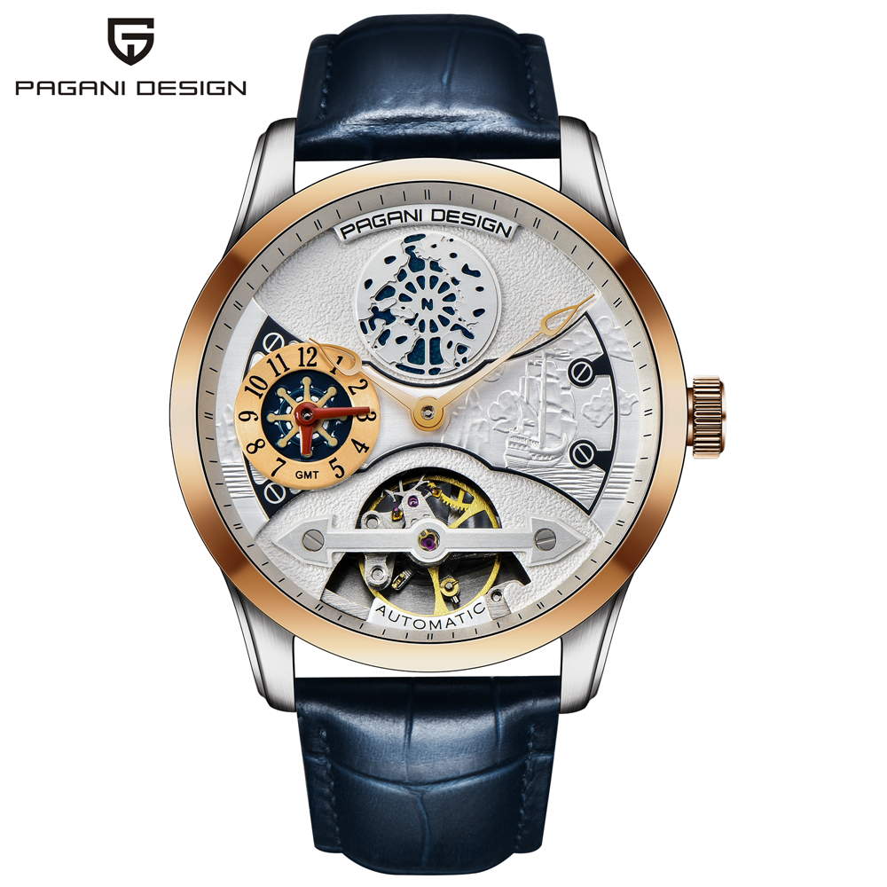PAGANI DESIGN Brand Men's Fashion Mechanical Watches Luxury Waterproof Stainless Steel Automatic Business Watch Casual Clock Men