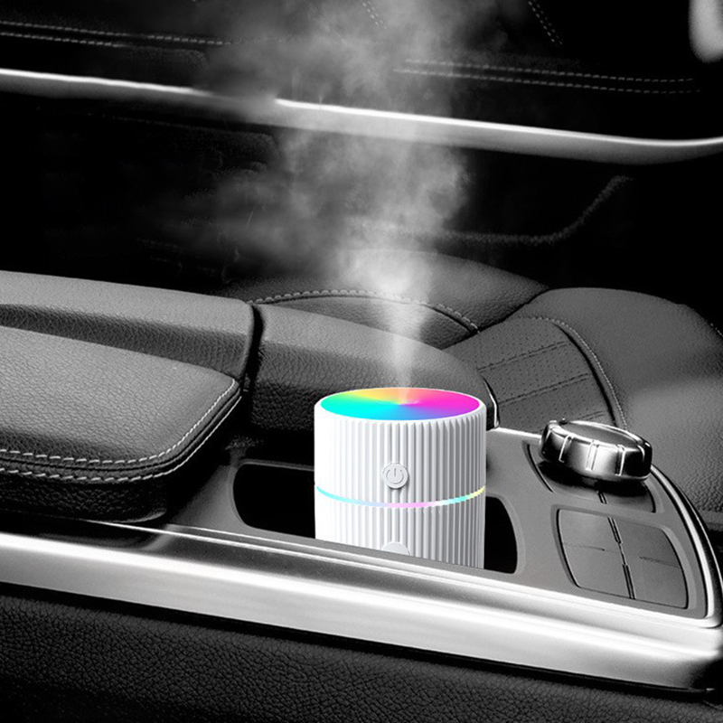 Portable Electric USB Air Humidifier Aroma Oil Diffuser Cool Mist Maker Purifier Aromatherapy for Car Home Colorful Night Light