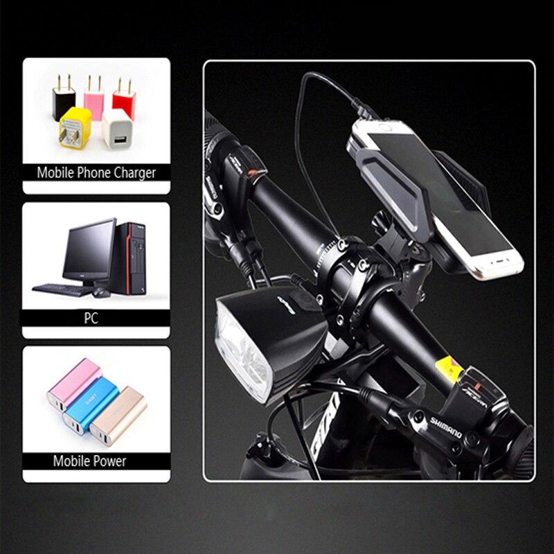 Easydo Smart Hoge/Dimlicht Fiets Licht Schakelaar Intelligente MTB Racefiets Stuur Koplamp USB Oplaadbare Voor LED Lamp - 6